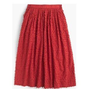 J.Crew Clip Dot Midi Skirt